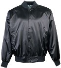 Augusta Black Satin Softball Jacket